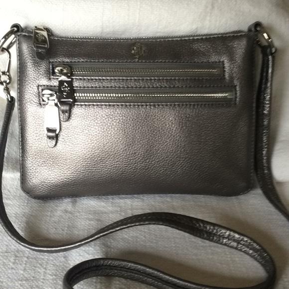 29e8c7d990 Cole Haan Handbags - Cole Haan Pewter Crossbody Bag